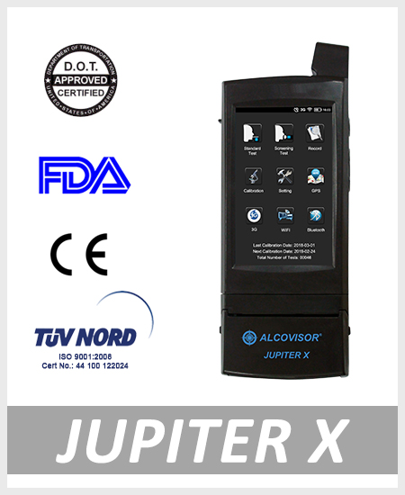 alcohol tester breathalyzer JupiterX