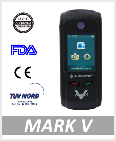 Alcohol tester breathalyzer MarkV