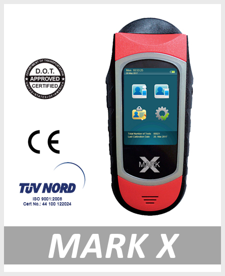 Alcohol tester breathalyzer MarkX