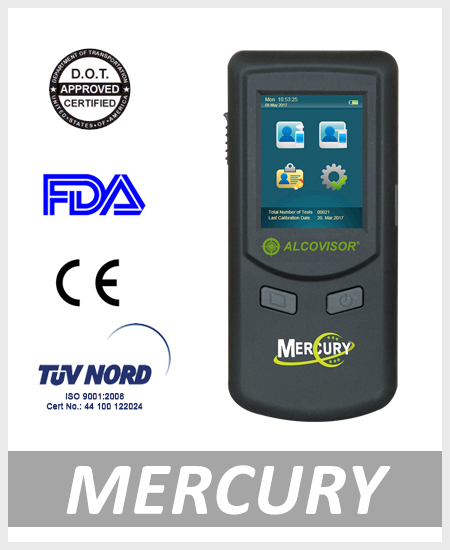 Alcohol tester breathalyzer Mercury