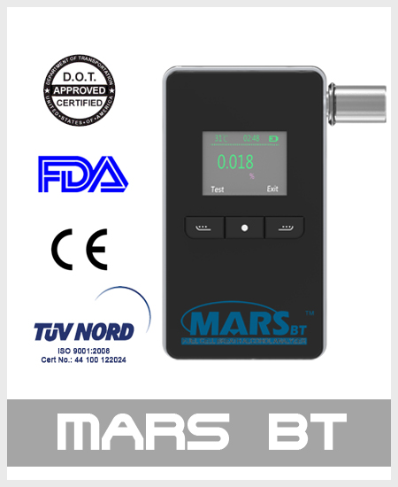 alcohol tester breathalyzer mars-bt